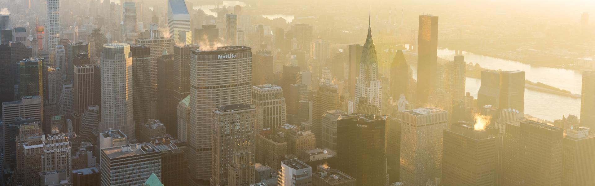 Skyline, Empire State Building, Sunrise