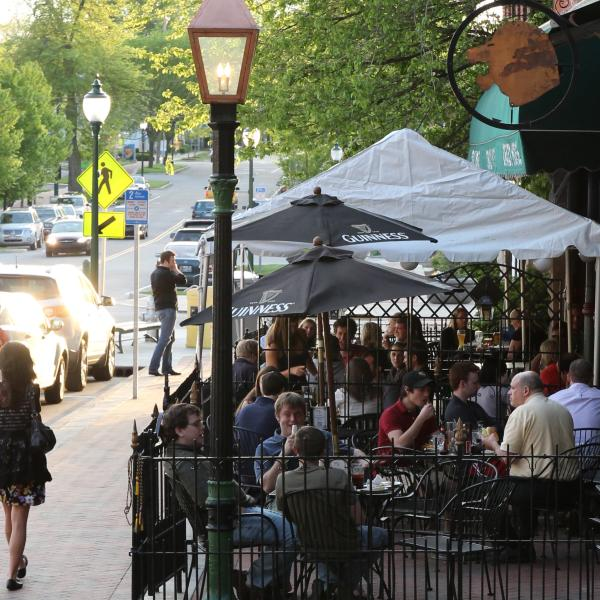 Cropped Patio Dining on Kirkwood Ave.