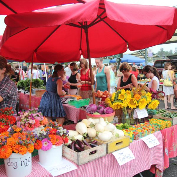 Farmers' Market in the Summer