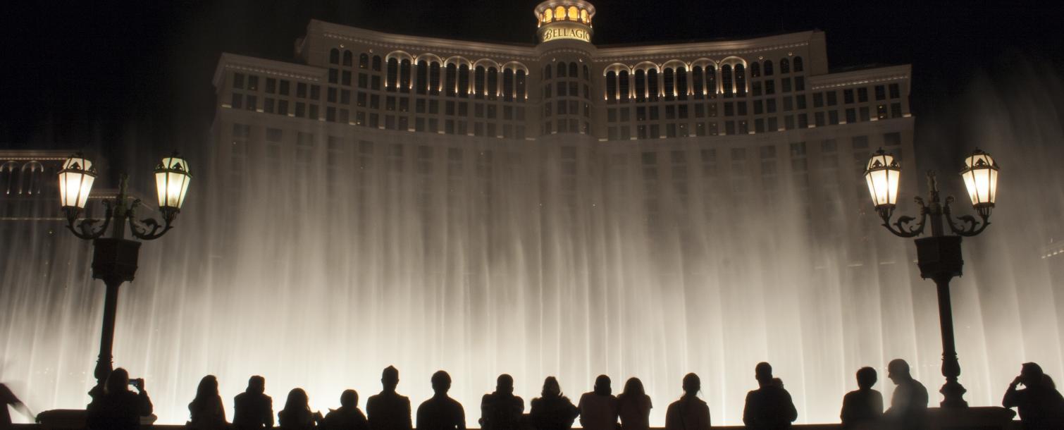 Bellagio Fountains - Night