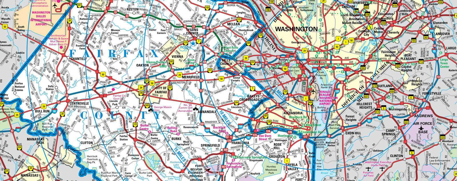 Maps Fairfax Virginia Vacations Fairfax County VA - Va map