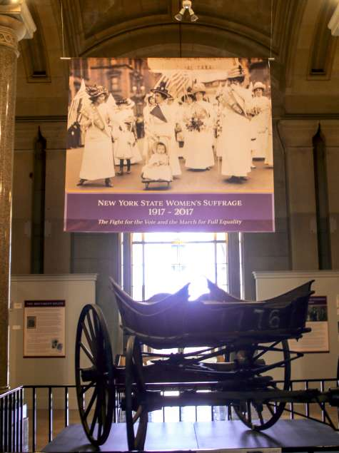 Suffrage museum display