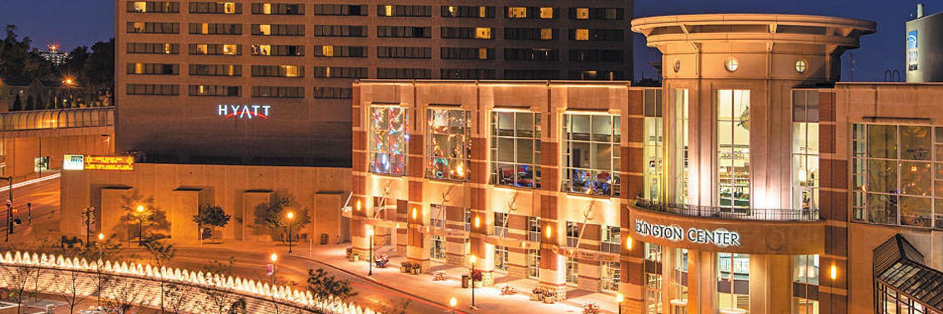 LCC & Hyatt at Night
