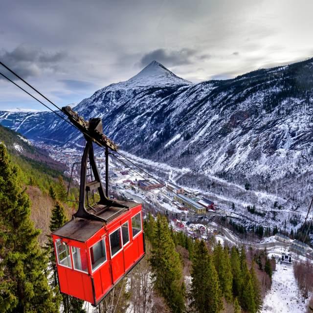Krossobanen cable car, Rjukan