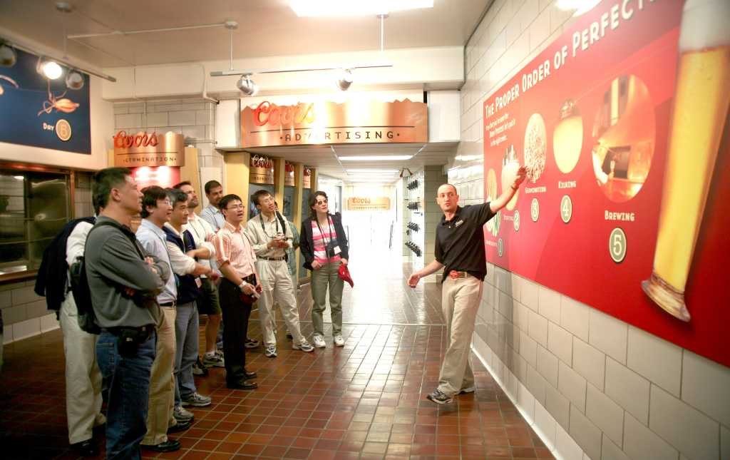 Guide Teaches Beer Making At The Coors Brewery