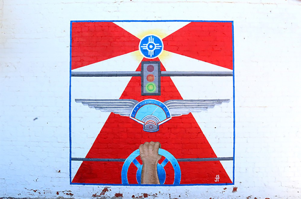 Flag Flight Mural