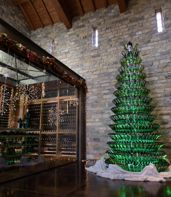 Christmas Wine Tree at Silver Oak Cellars