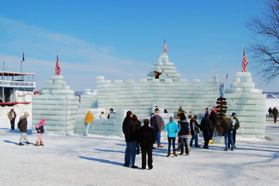 President's Day Winter Festival - Ice Castle - Mayville Lakeside Park on Chautauqua Lake