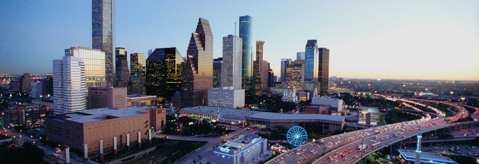 Downtown Houston Skyline at Dusk Getting to