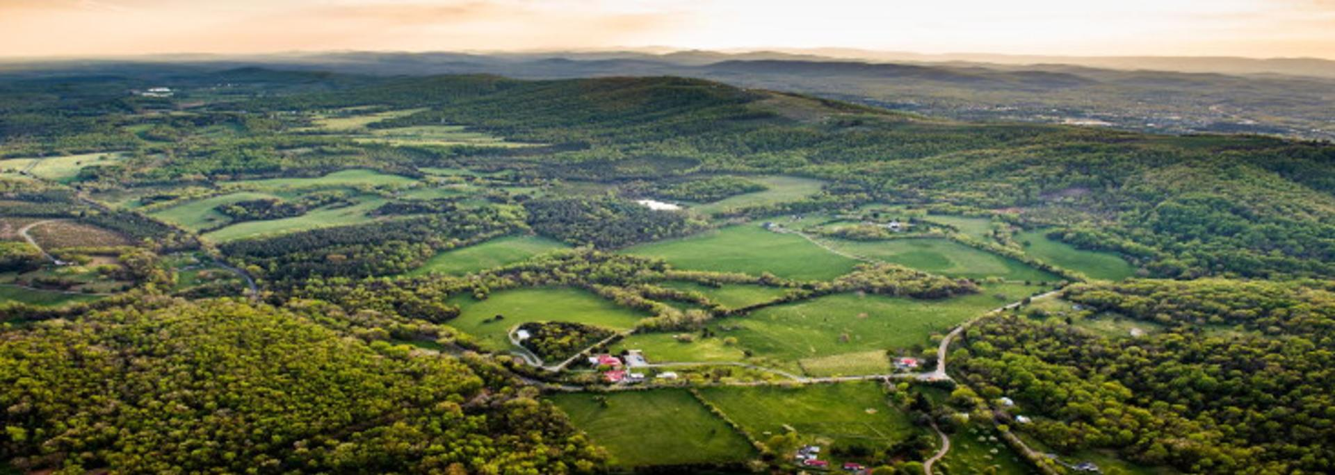 Aerial photo of Albemarle County