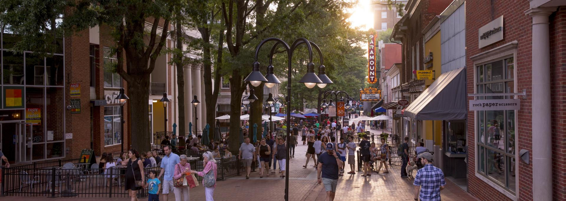 Downtown Mall in summer