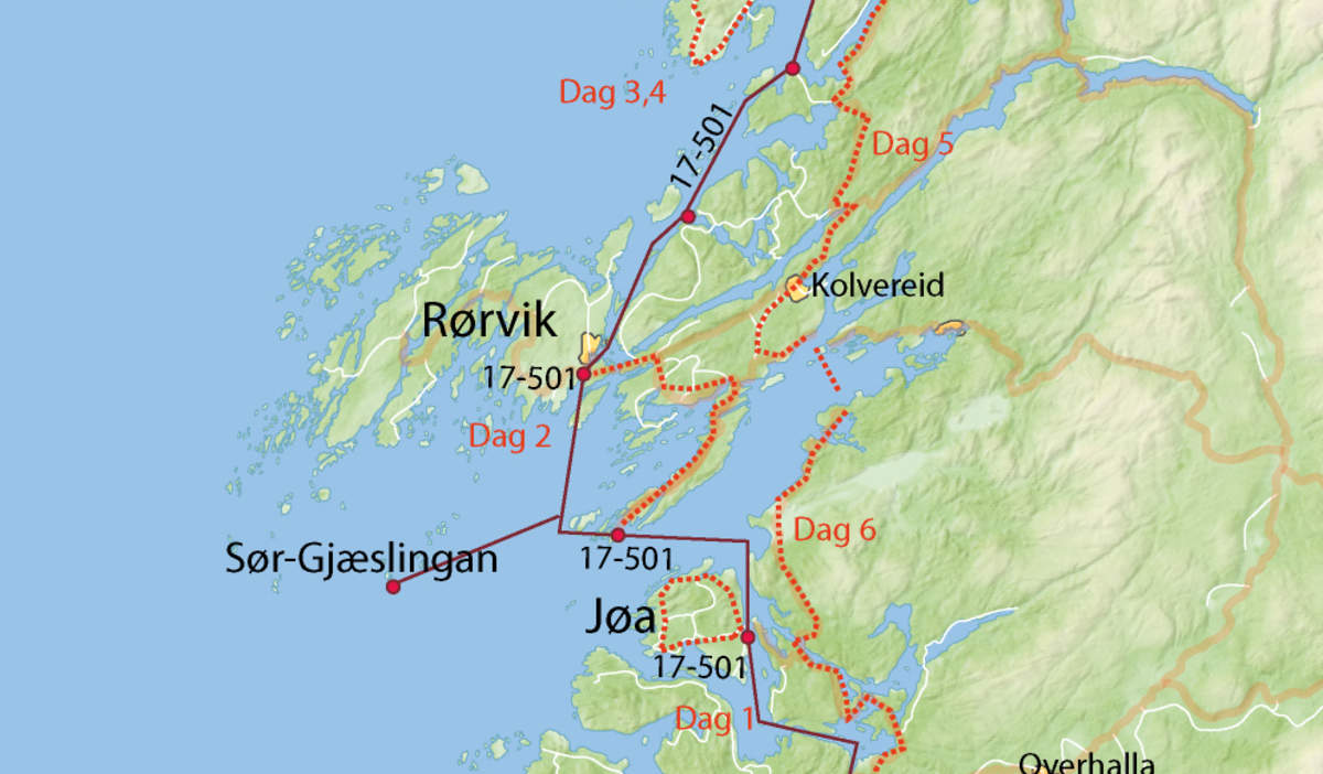 kart over jøa Island hopping by bike at the Helgeland coast kart over jøa