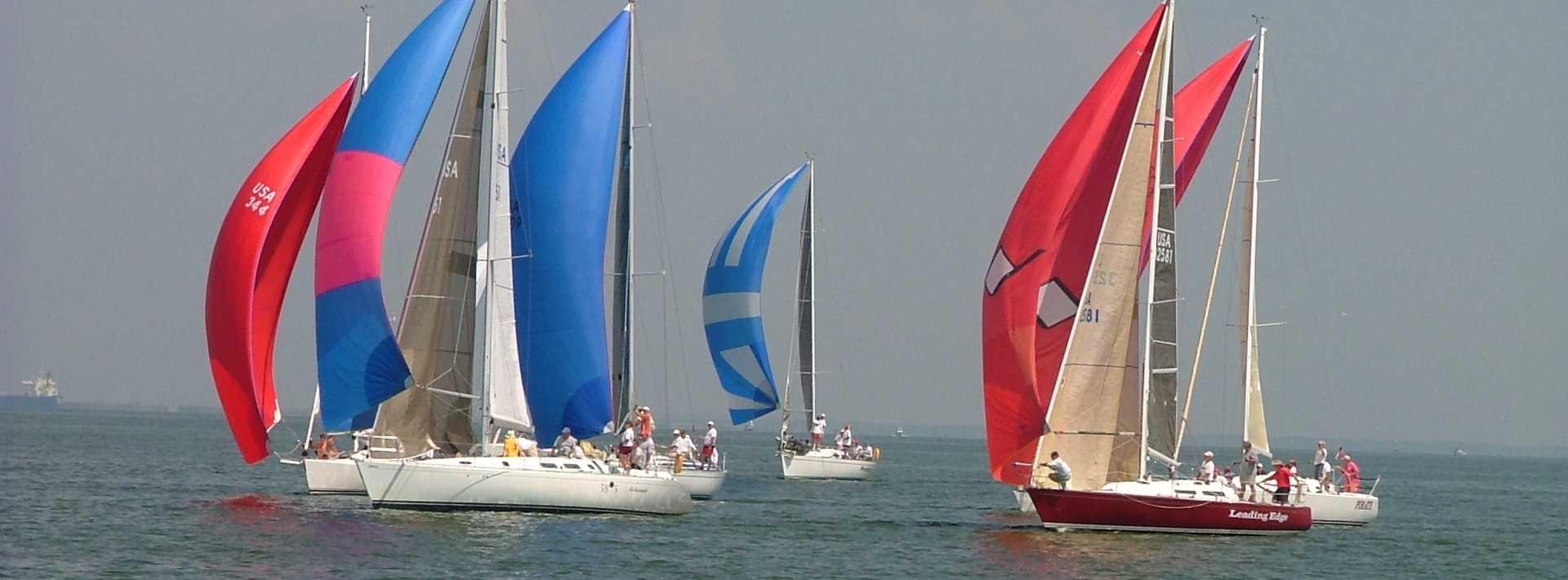 Sailboats on Galveston Bay