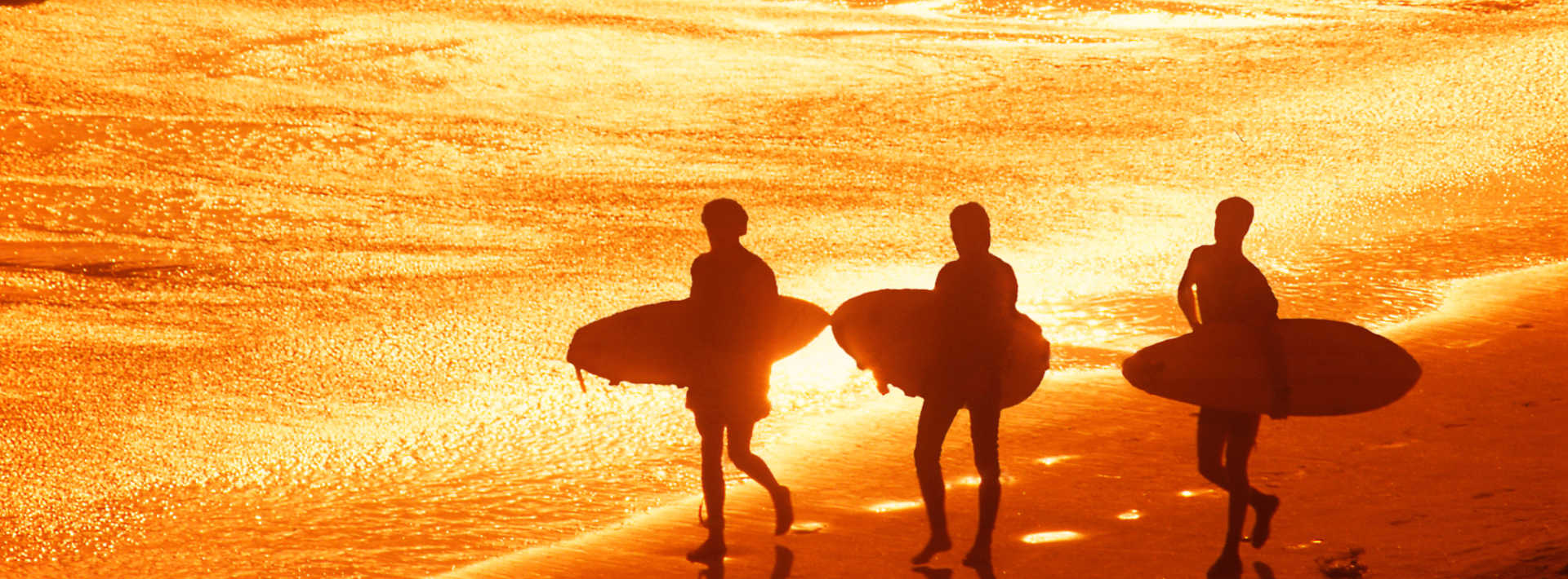Galveston Beach Surfers