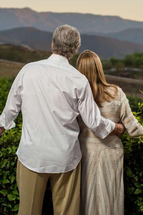 Couple Vineyards Sunset