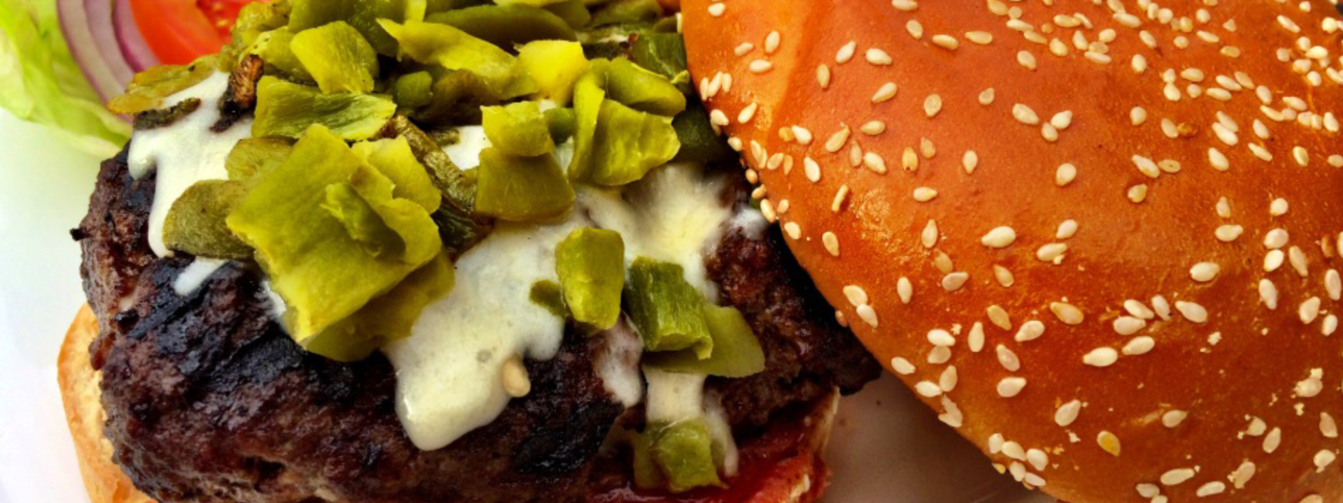 Green Chile Cheeseburger Sub Hero