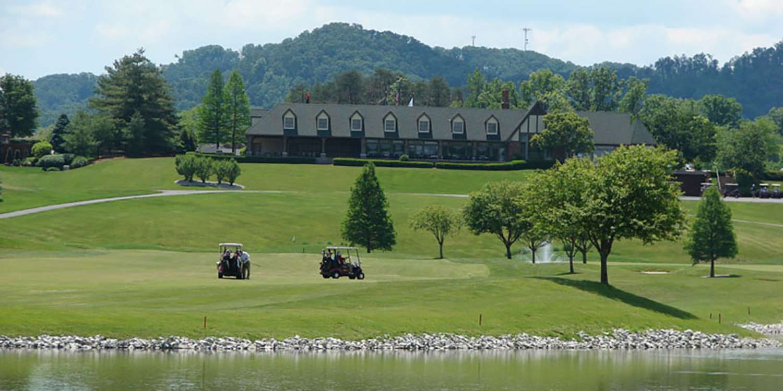 Covered Bridge lake and club house 1