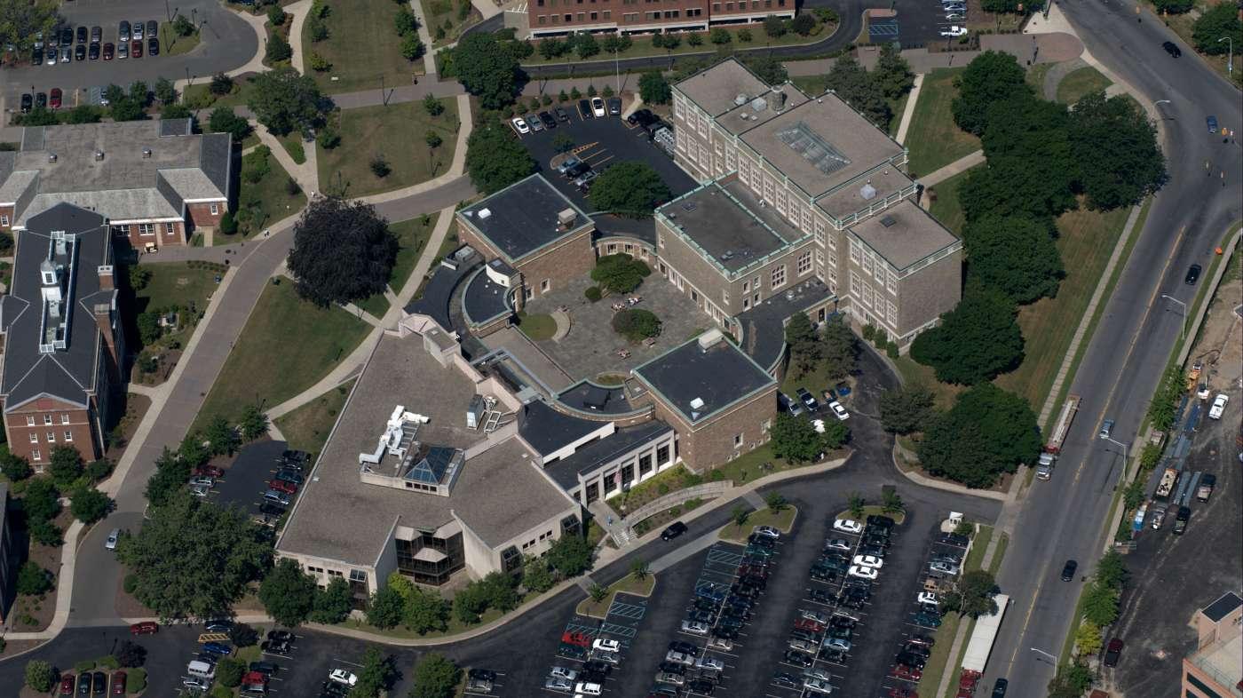 University campus -aerial