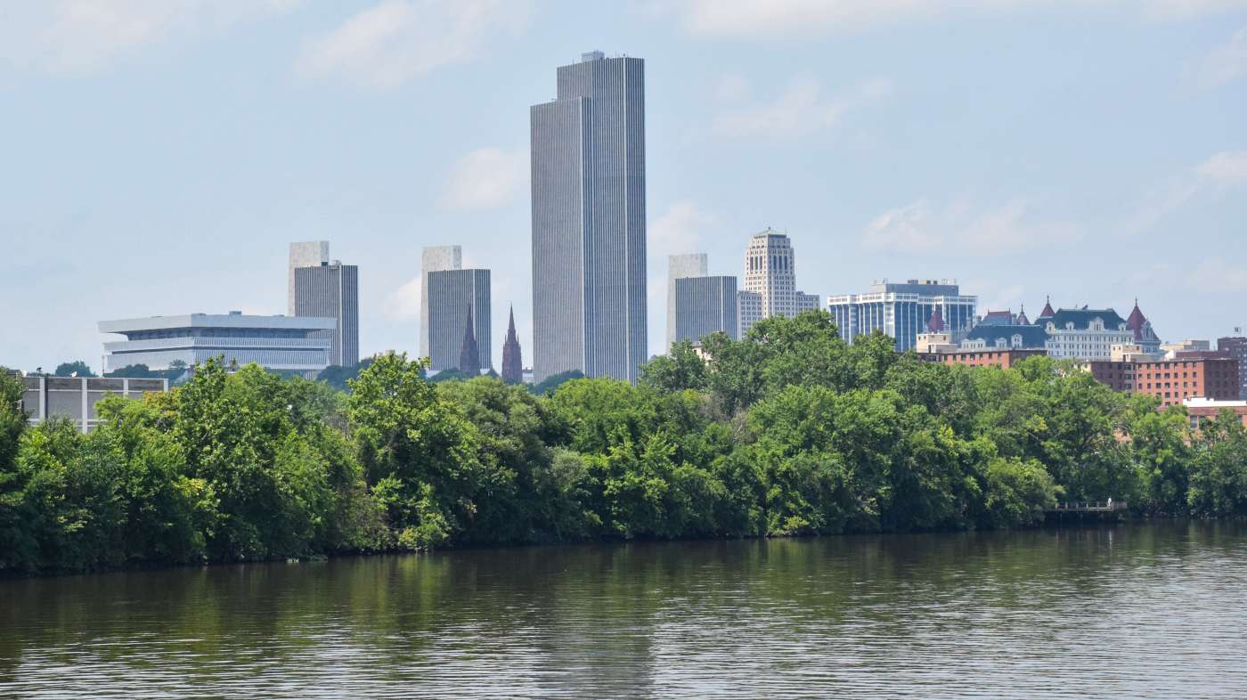 Downtown view from the river
