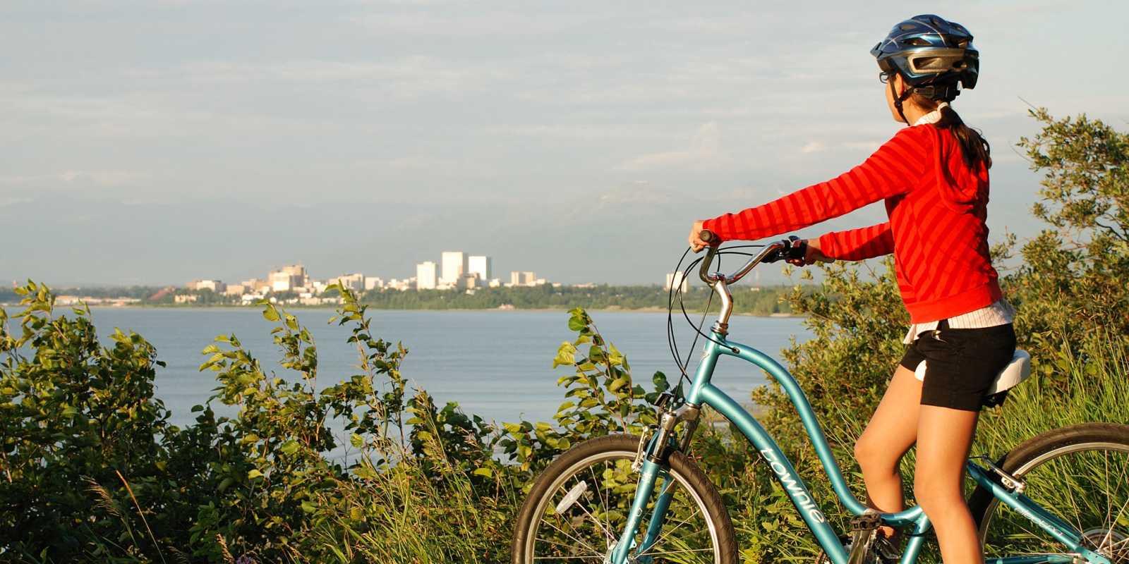 Tony Knowles Coastal Trail biking