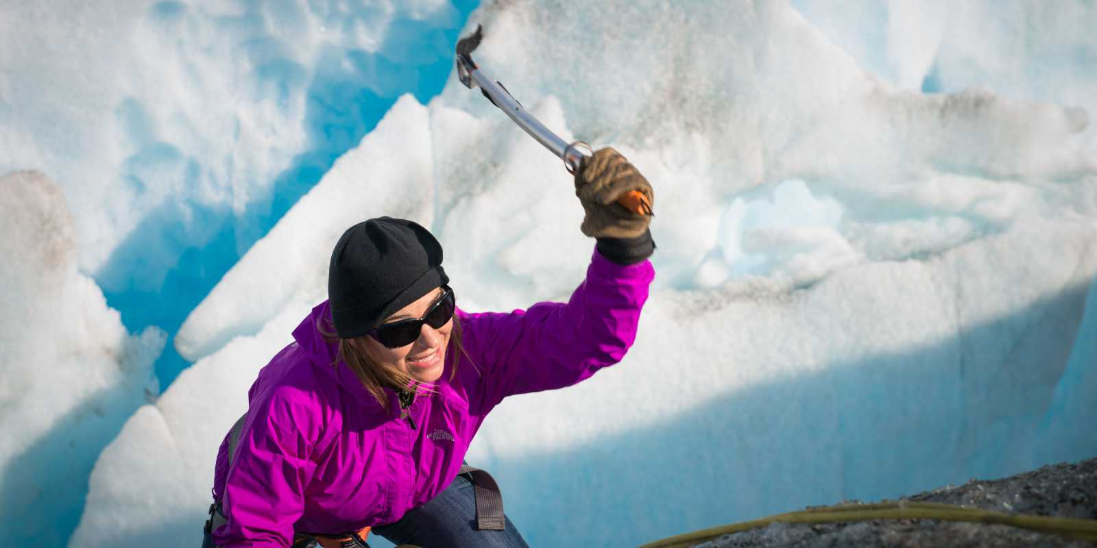 Ice climbing on Knik Glacier
