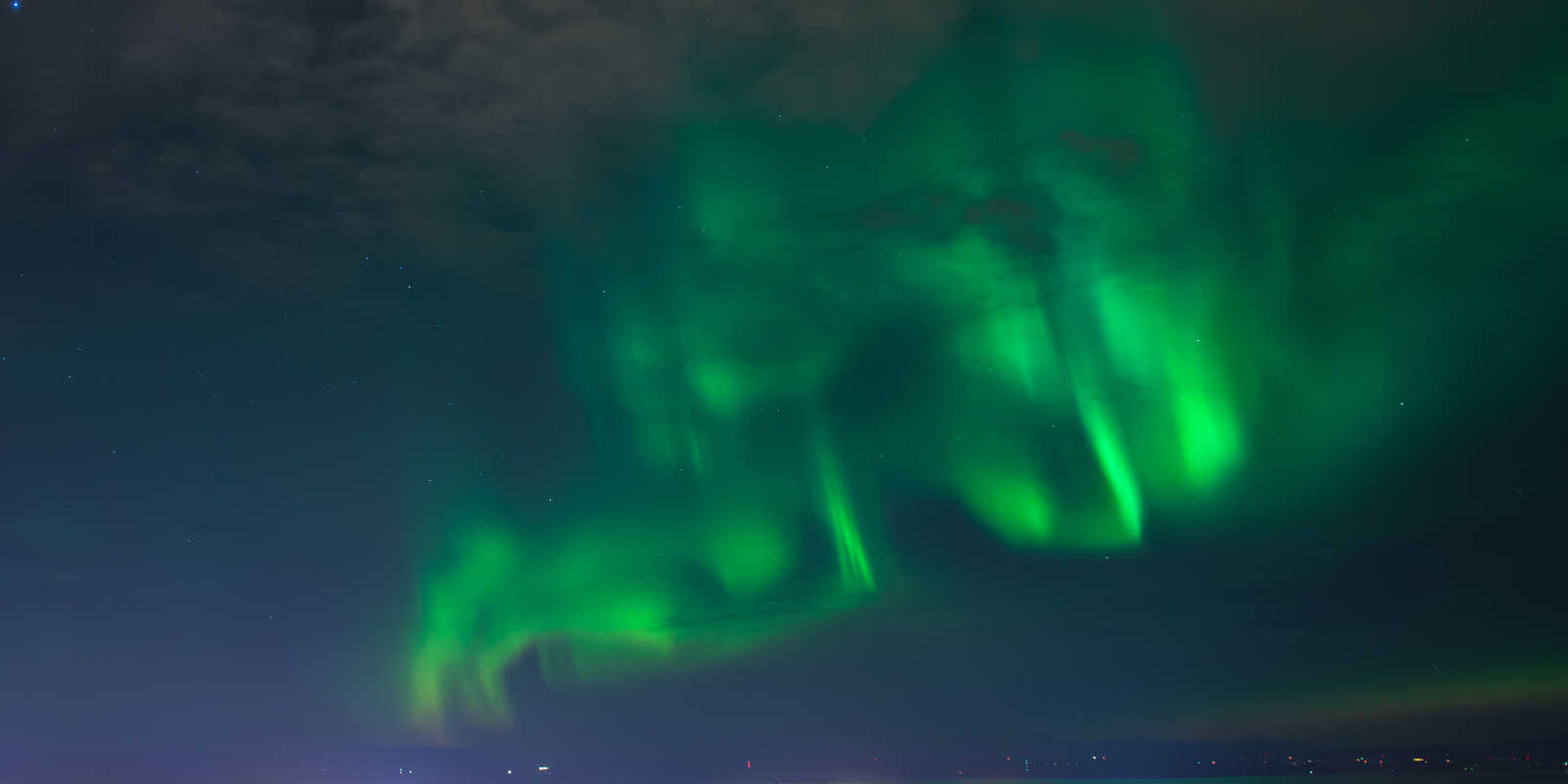 Northern lights viewing over Anchorage