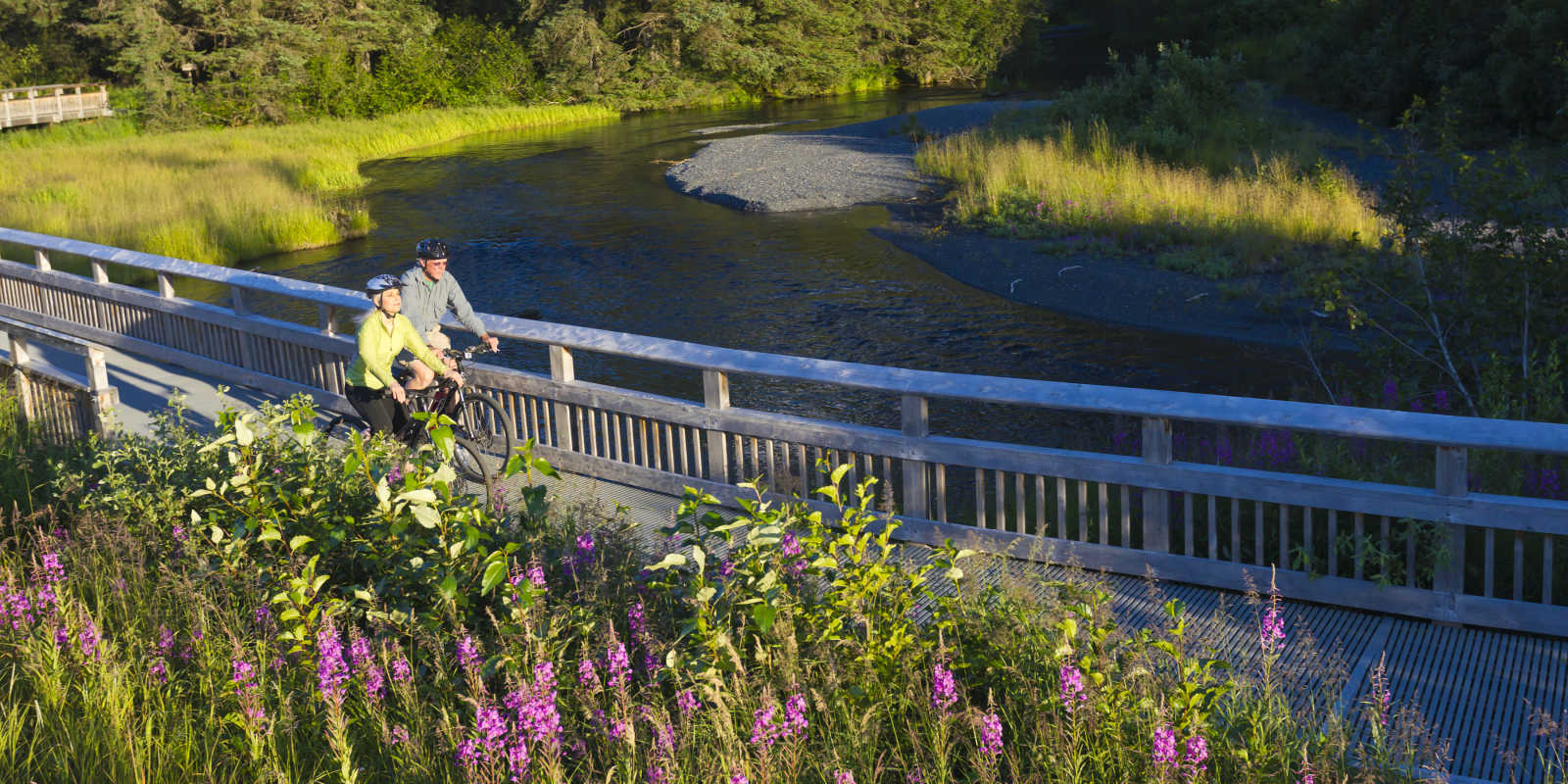Biking Anchorage trails