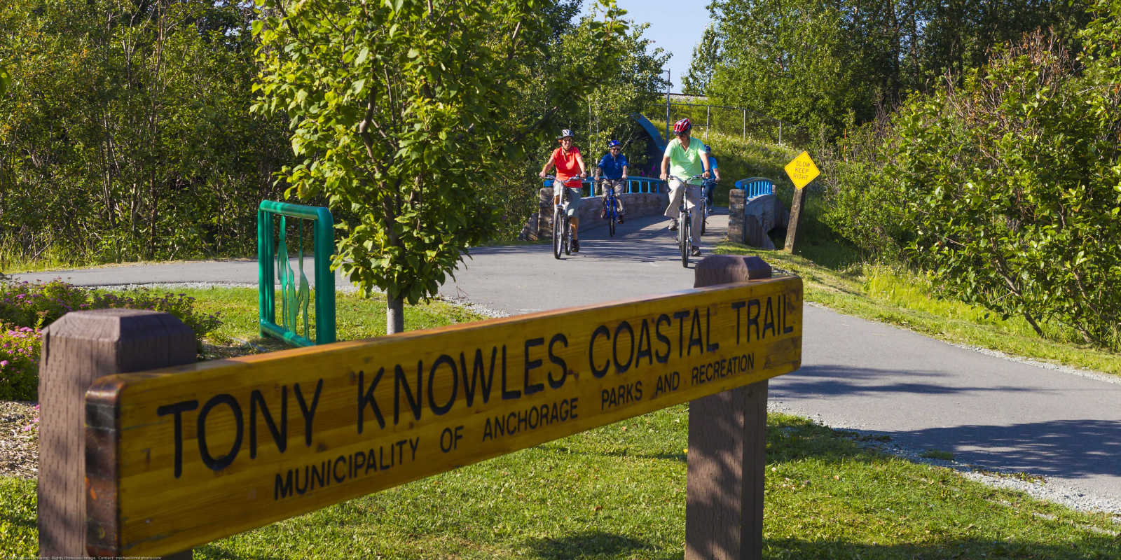 Tony Knowles Coastal Trail biking