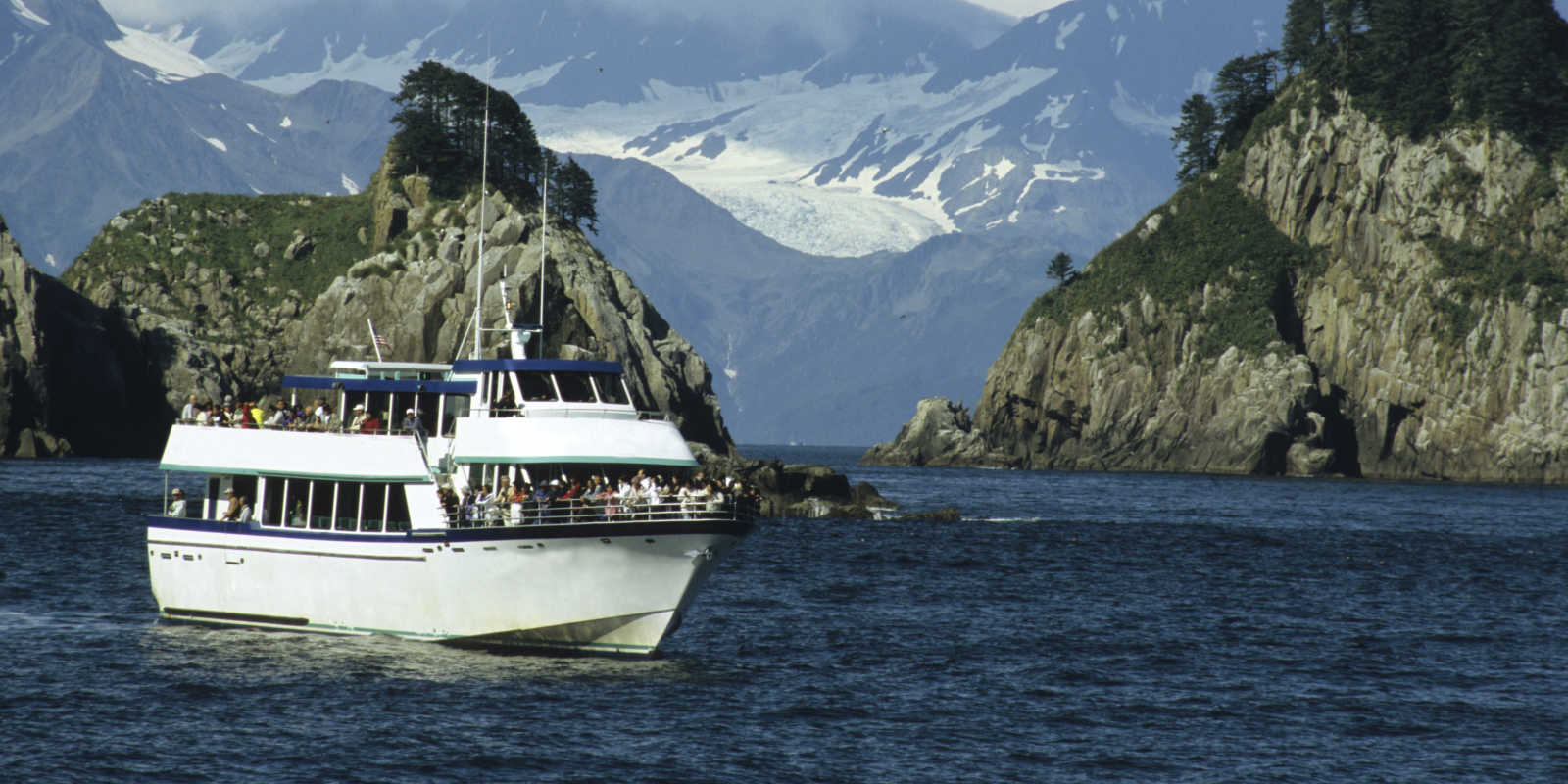 Kenai Fjords tours day cruise in the national park