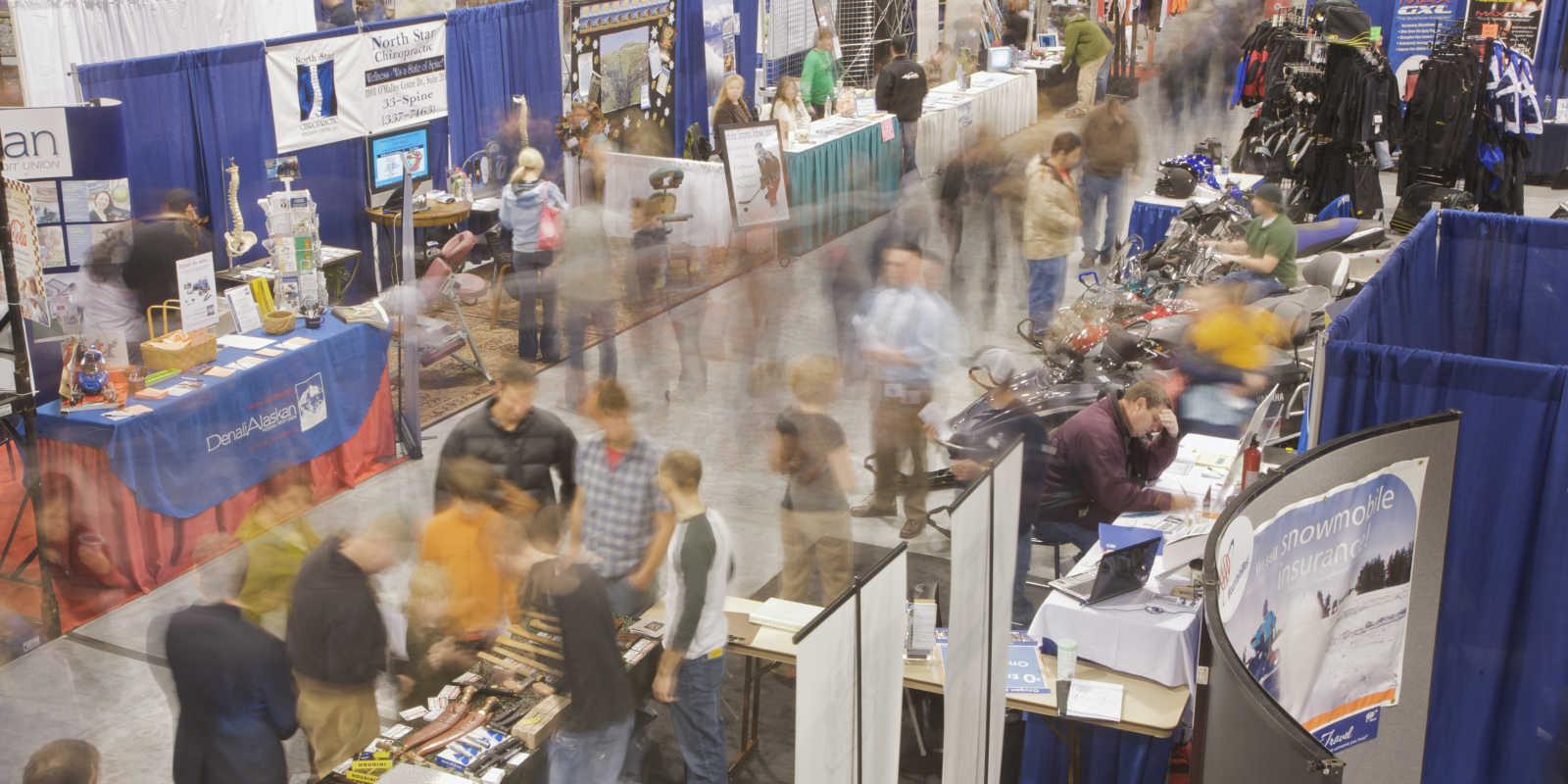 Dena'ina center tradeshow floor