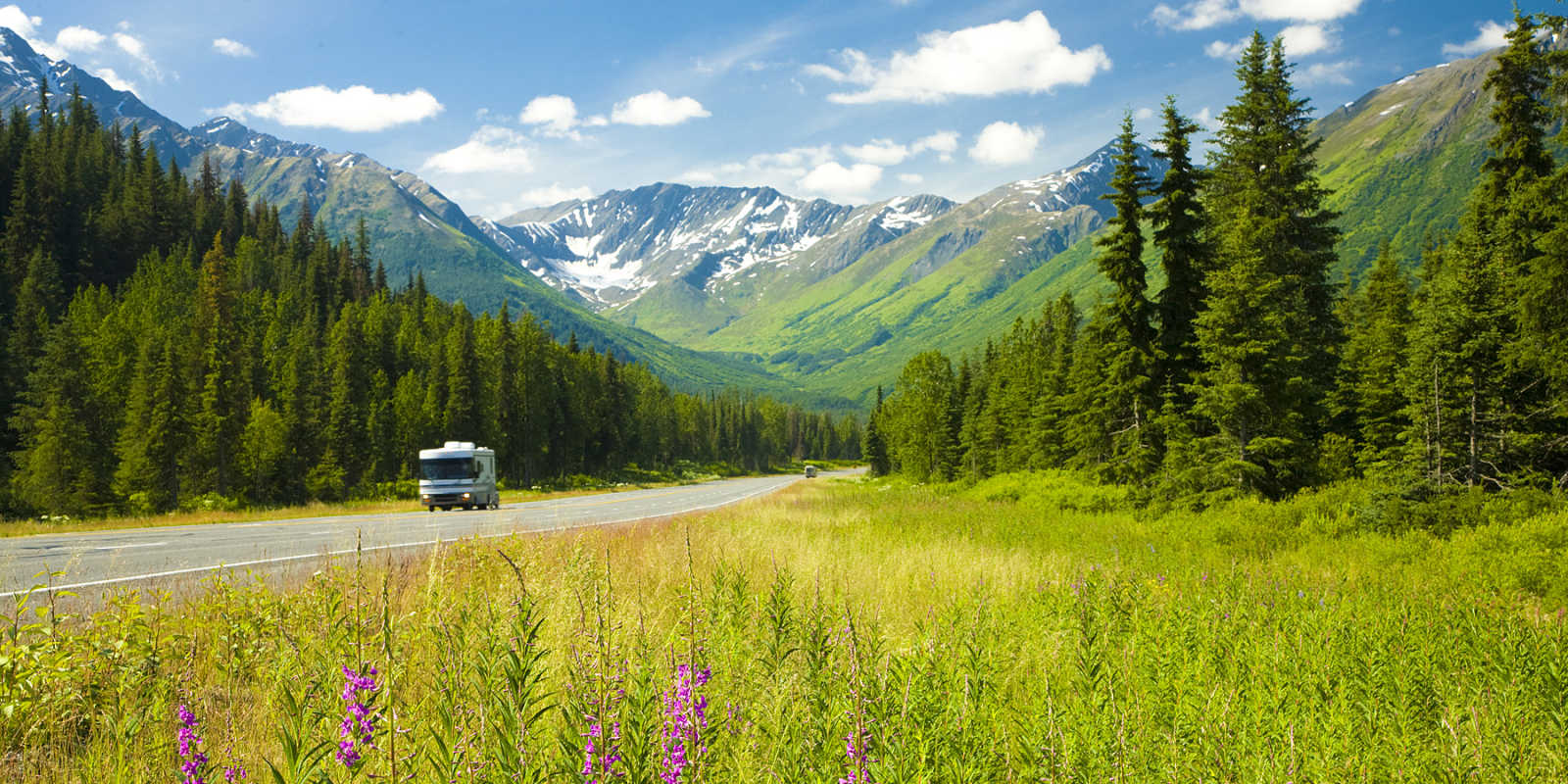 Alaska RV tours and scenic trips near Anchorage