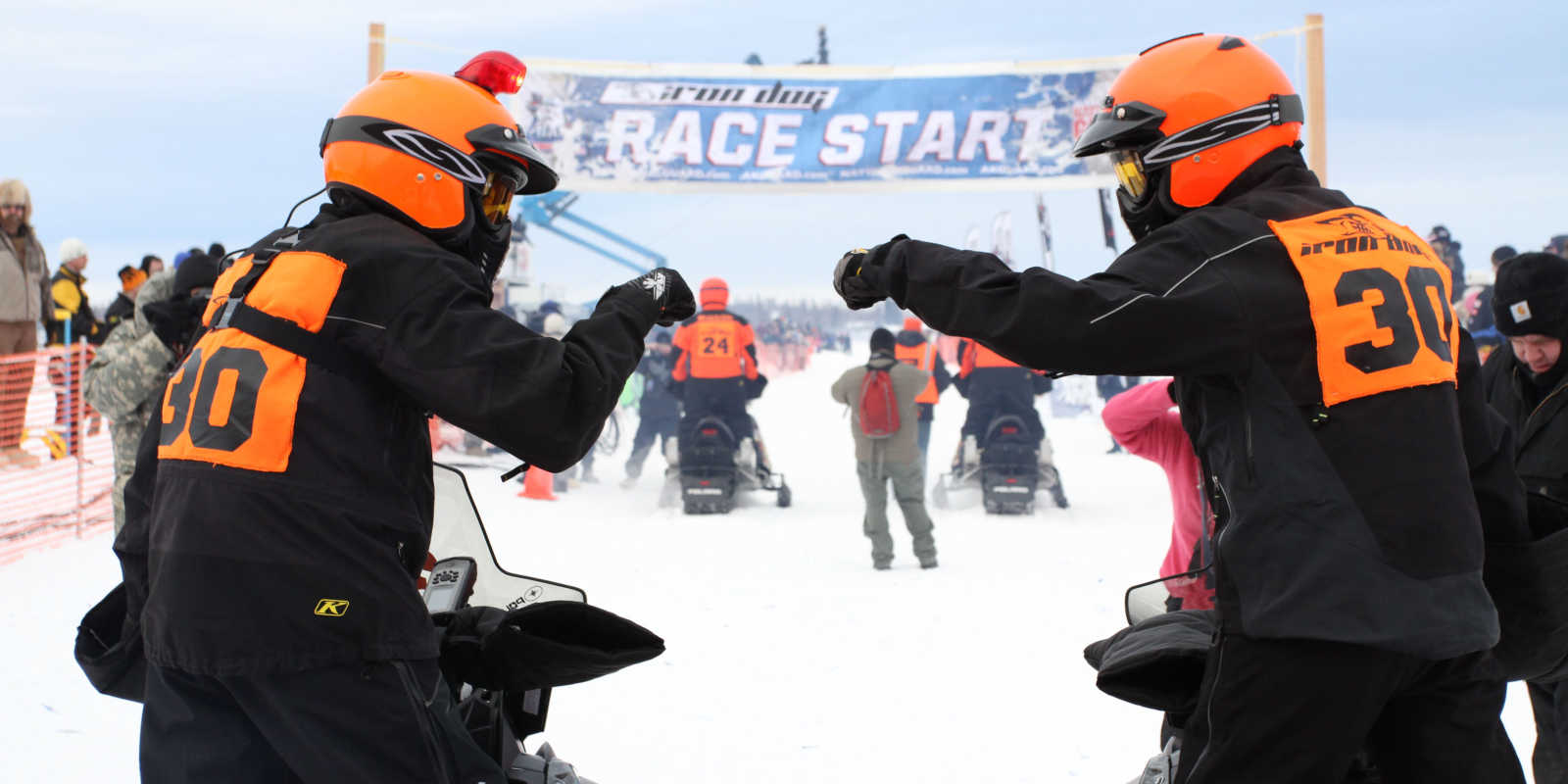 Iron Dog Snowmobile Race Anchorage