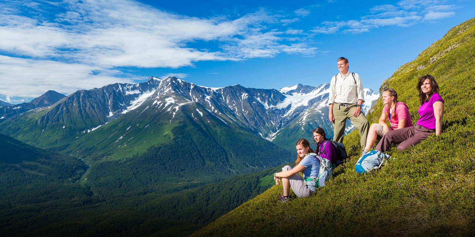 Alyeska Resort Hiking Family