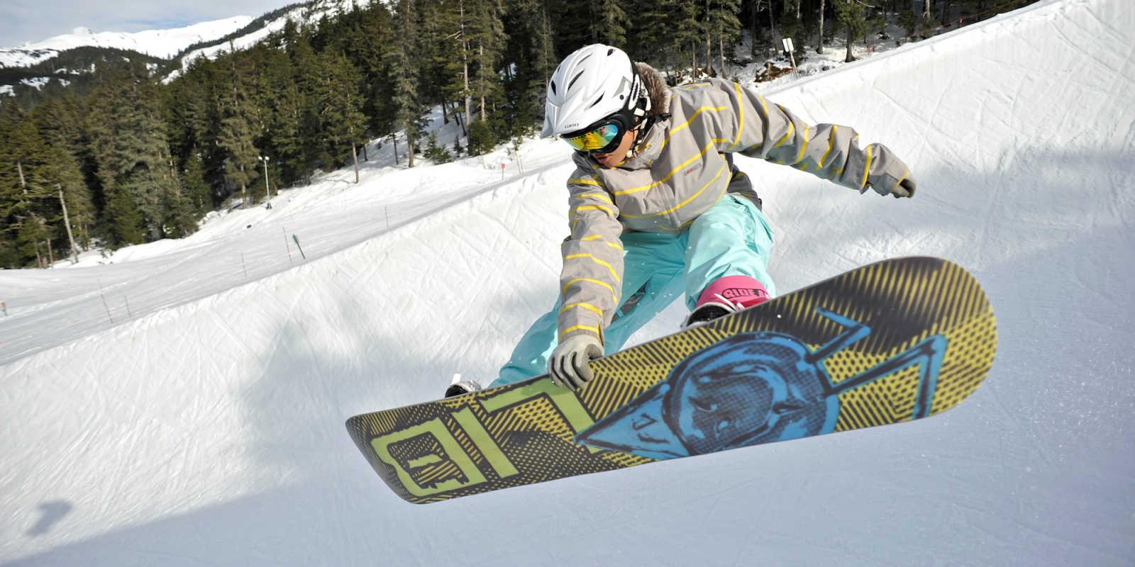Alyeska resort snowboarding near Anchorage