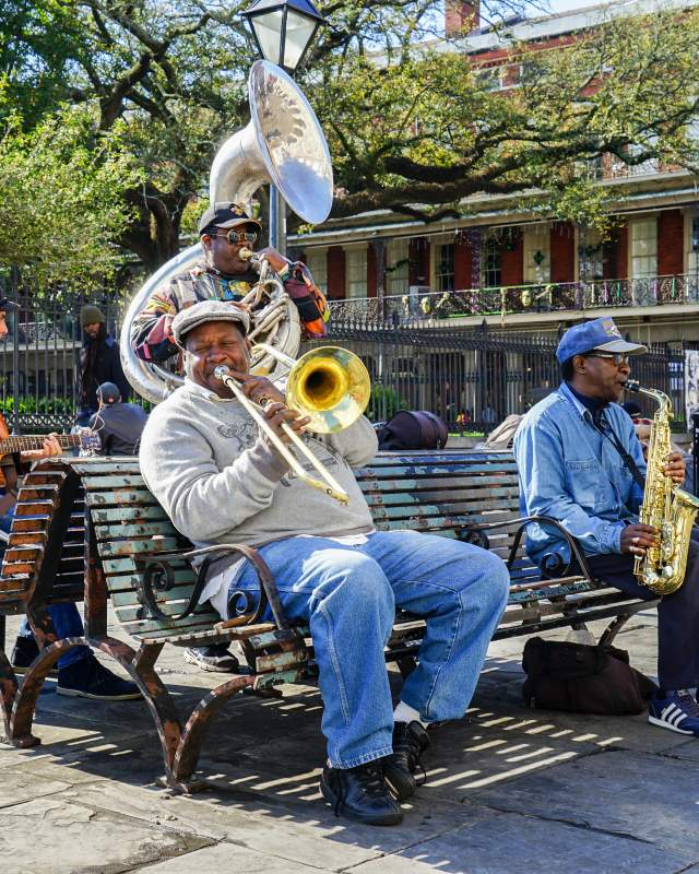 Jackson Square Brass Band - Street Musicians - Spring