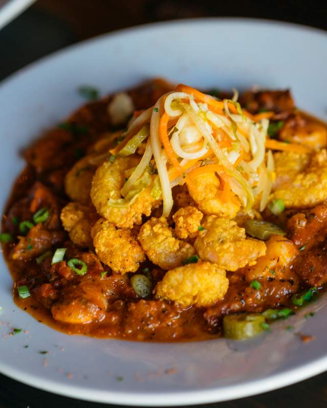 Fried Shrimp Creole - Galliano Restaurant - Warehouse District