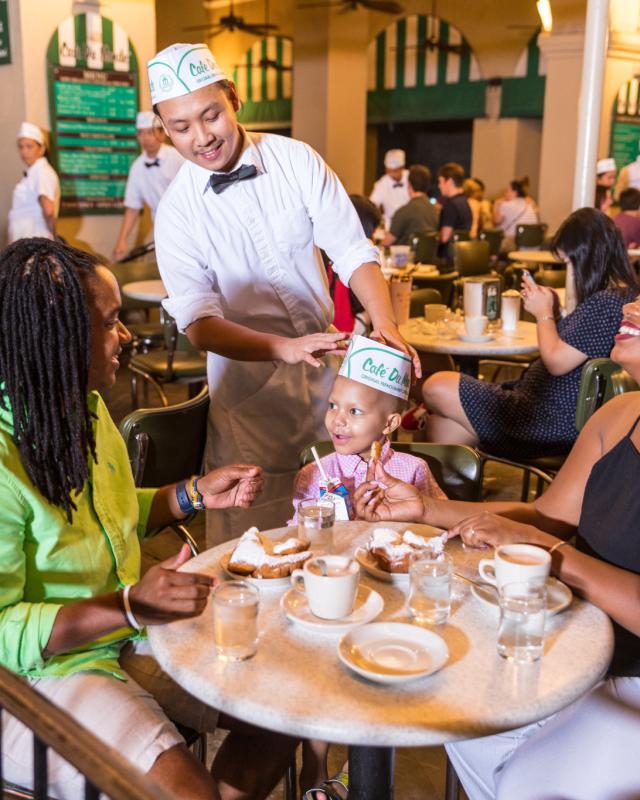 LGBT family at Cafe Du Monde