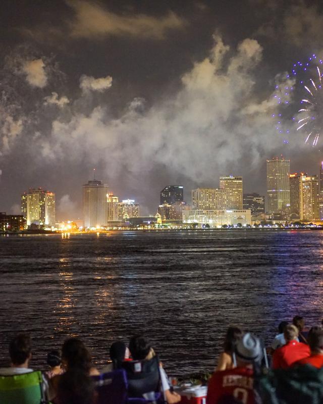 Tricentennial Calendar- Fireworks on the Mississippi