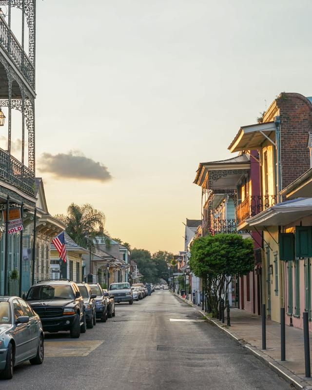 Magic Hour - Summer Sunset, French Quarter - Dumaine at Bourbon