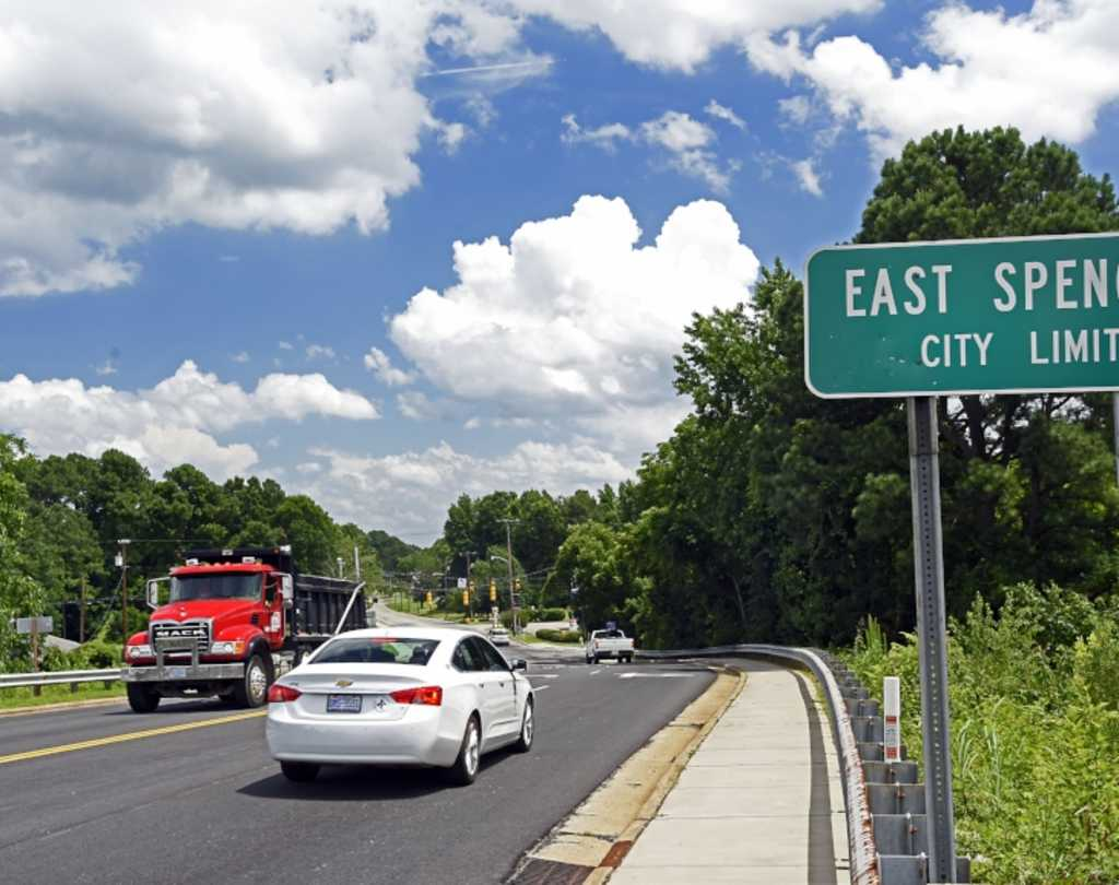 City Limit sign for East Spencer