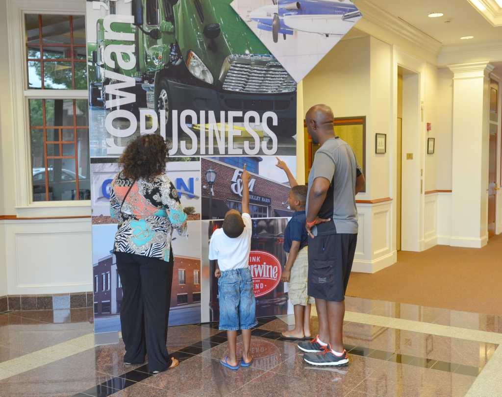 Family at Visitors Center in Salisbury