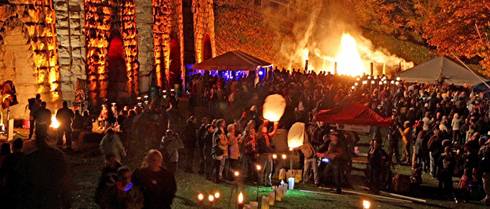 Bonfire at Iron Furnaces