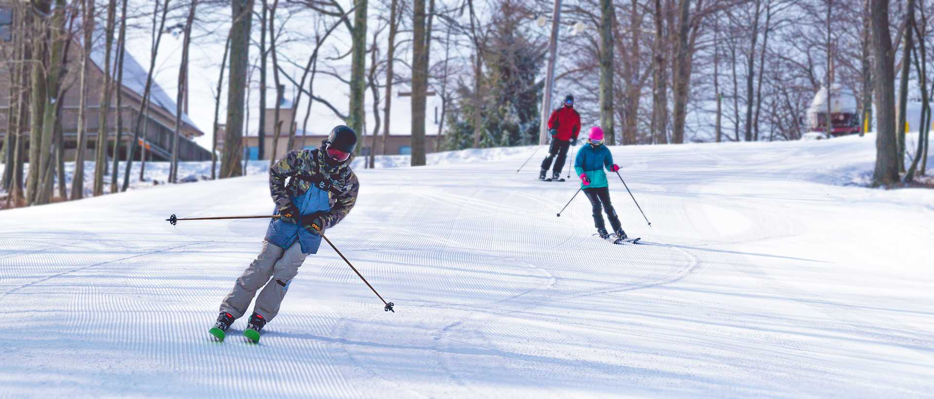 People skiing on Montage Mountain in Lackawanna County