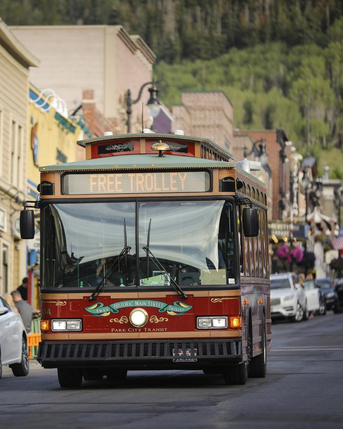 Free Trolley in Park City, Utah