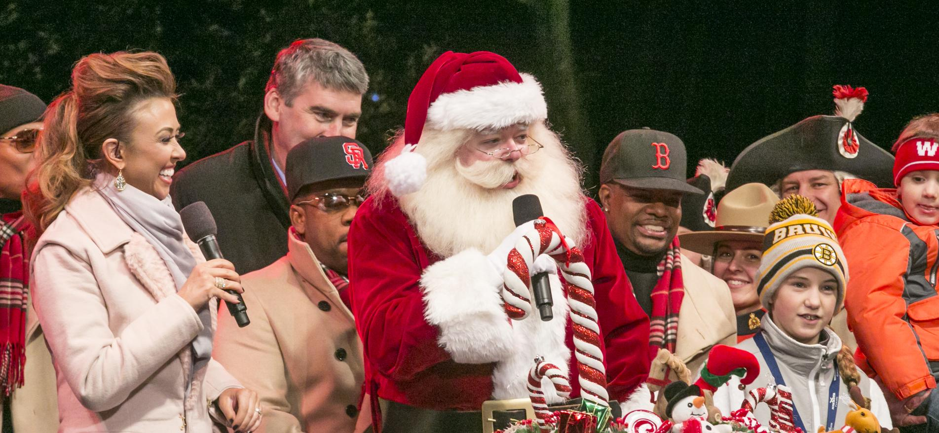 Where can you go to see Santa in Boston?