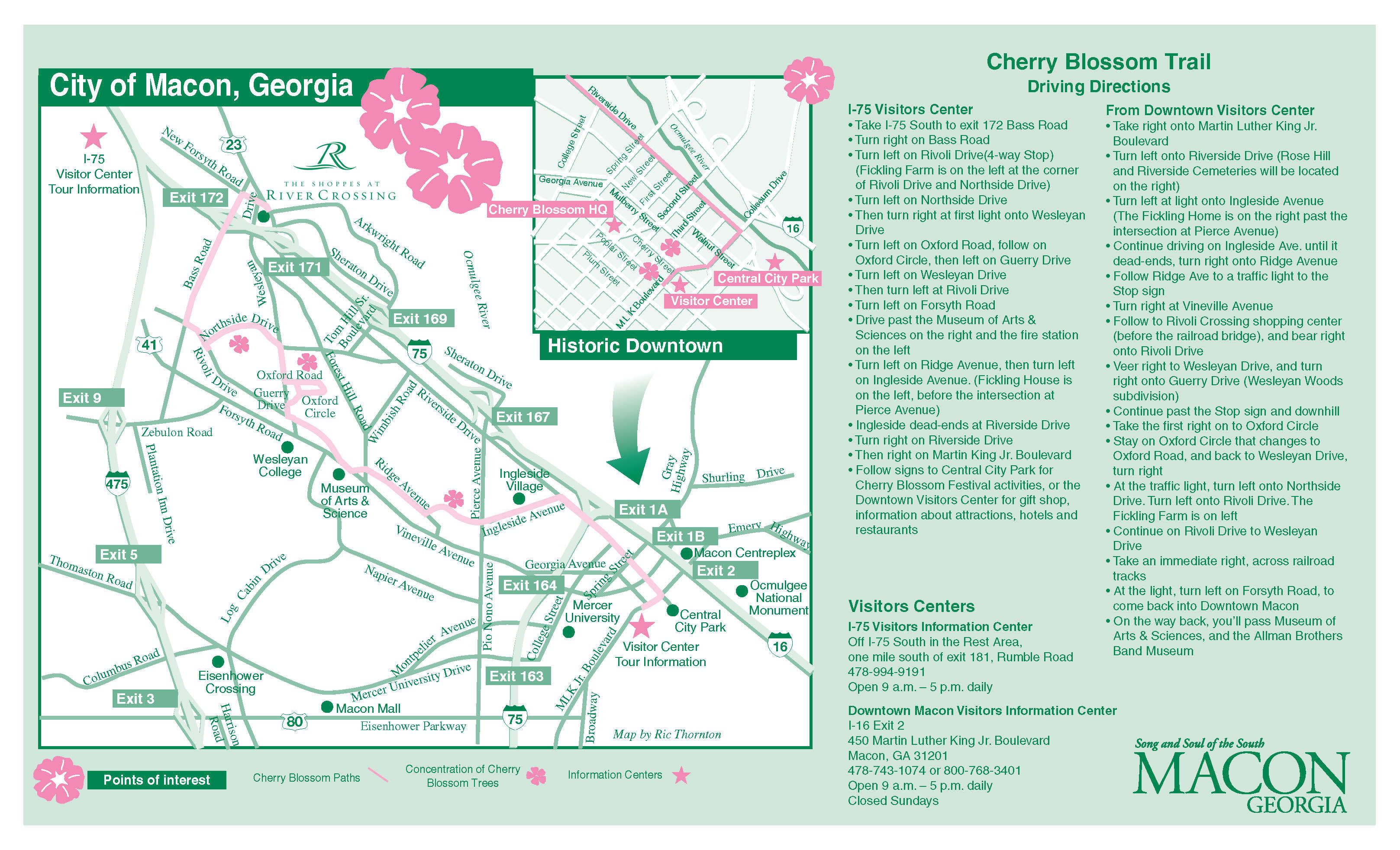 Where To Go To See Cherry Blossom Trees - Georgia map macon