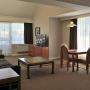 Living Room of One Bedroom Suite with 2 Queen Beds