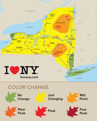 Fall Foliage Map Week 2