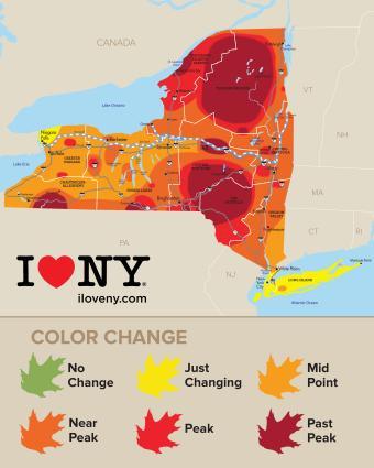Fall Foliage Map Week 6 - 2017