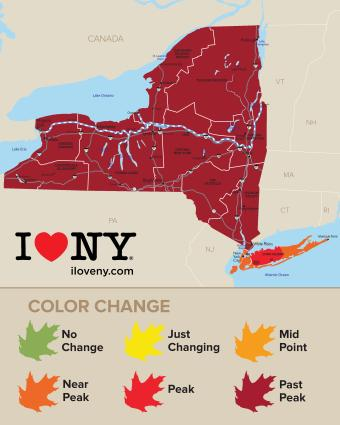 Fall Foliage Map Week 9 - 2017